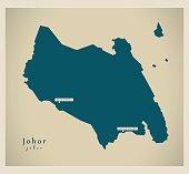Modern Map - Johor MY