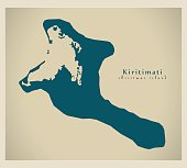 Modern Map - Kiritimati Christmas Island
