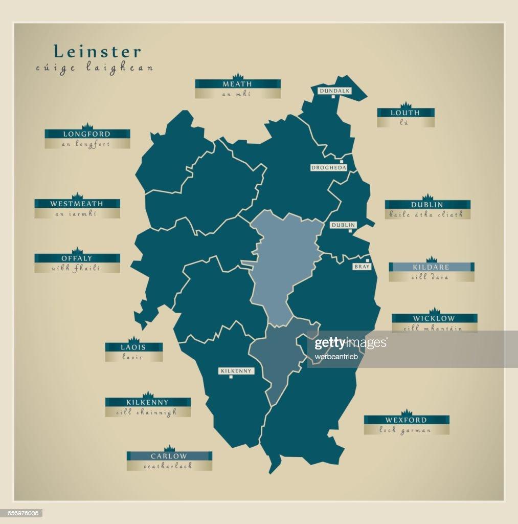 Modern Map - Leinster IE