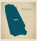 Modern Map - Manchester JM