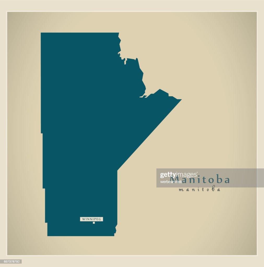 Modern Map - Manitoba CA