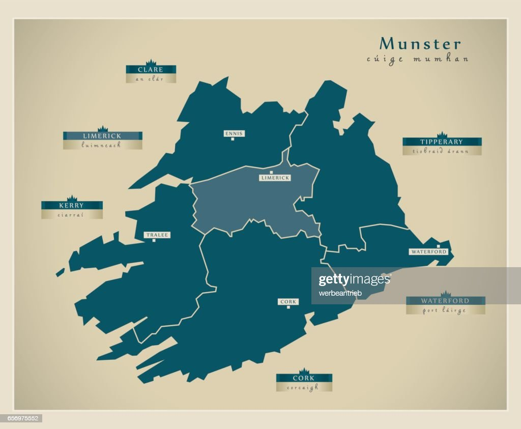 Modern Map - Munster IE
