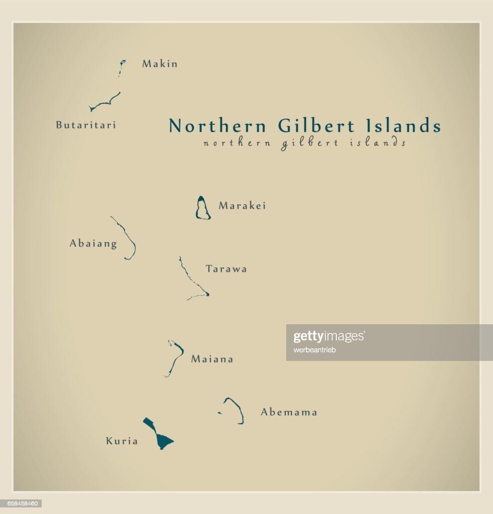 Modern Map - Northern Gilbert Islands KI