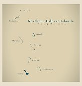 Modern Map - Northern Gilbert Islands KI