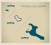 Modern Map - Northern Line Islands KI