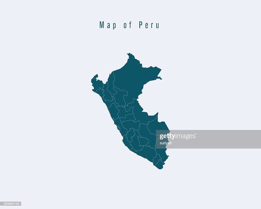 Modern Map - Peru with federal states