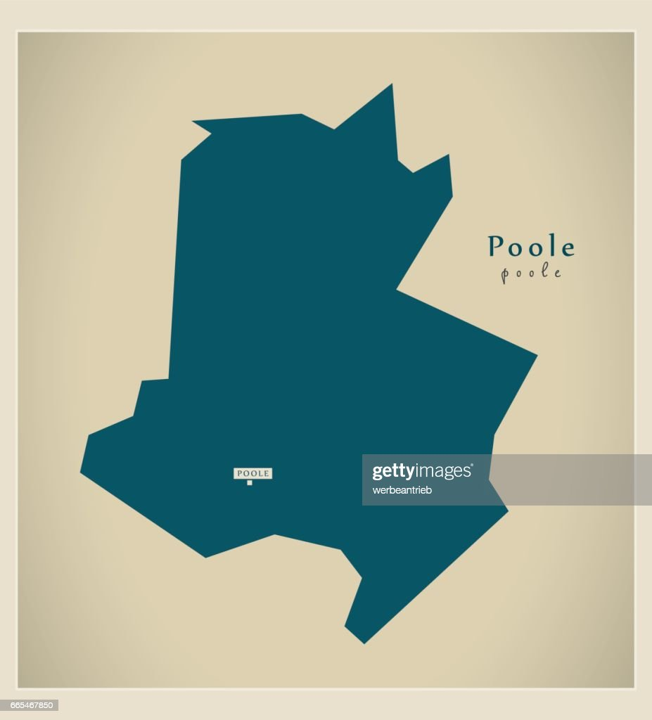 Poole England Map.Modern Map Poole Unitary Authority England Uk Vector Art Getty Images
