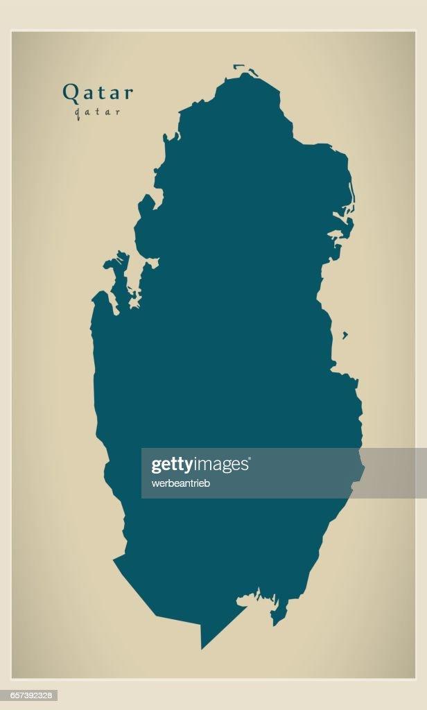 Modern Map - Qatar QA