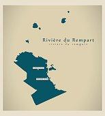 Modern Map - Riviere du Rempart MU
