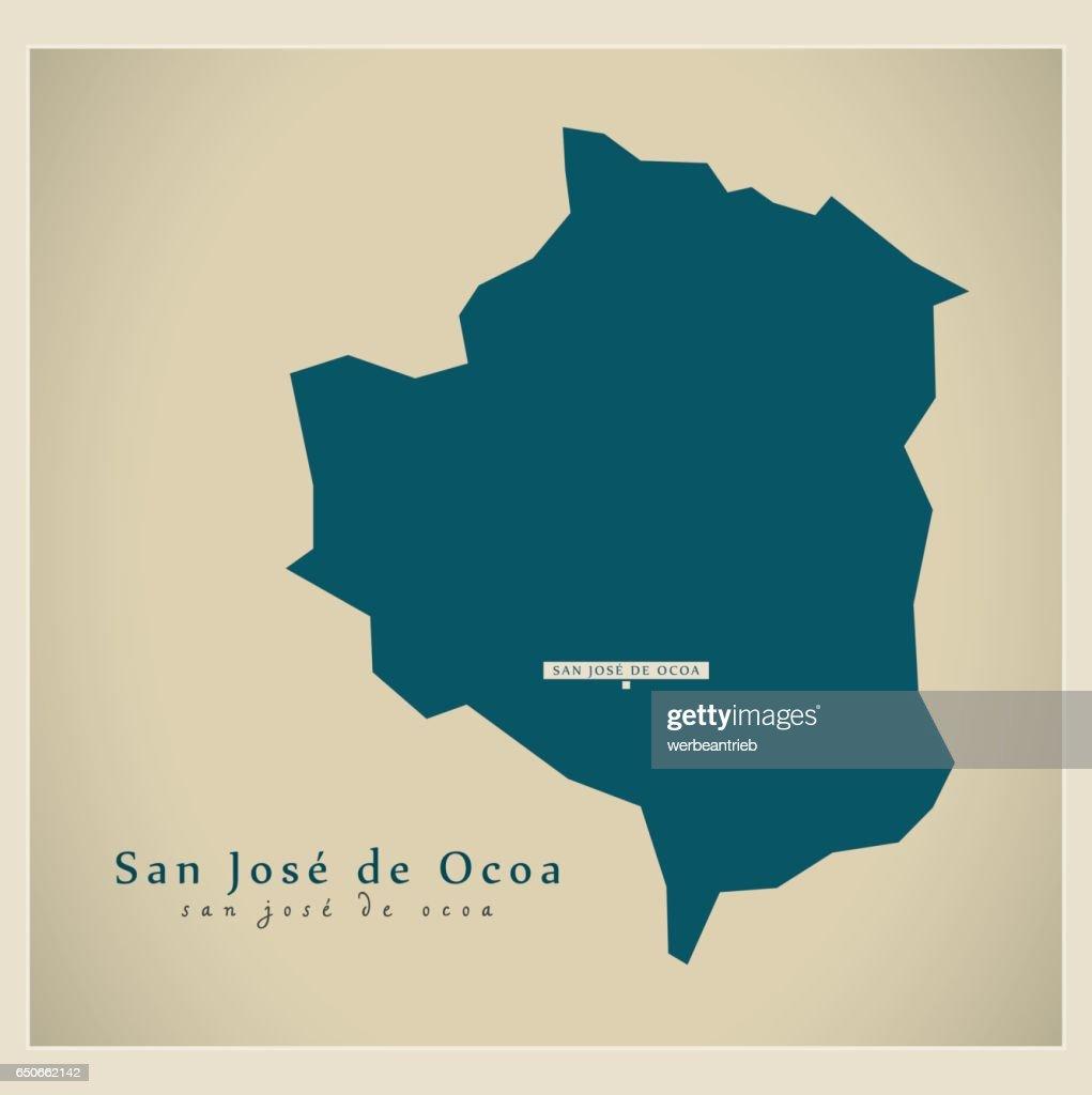 Modern Map - San Jose de Ocoa DO illustration silhouette