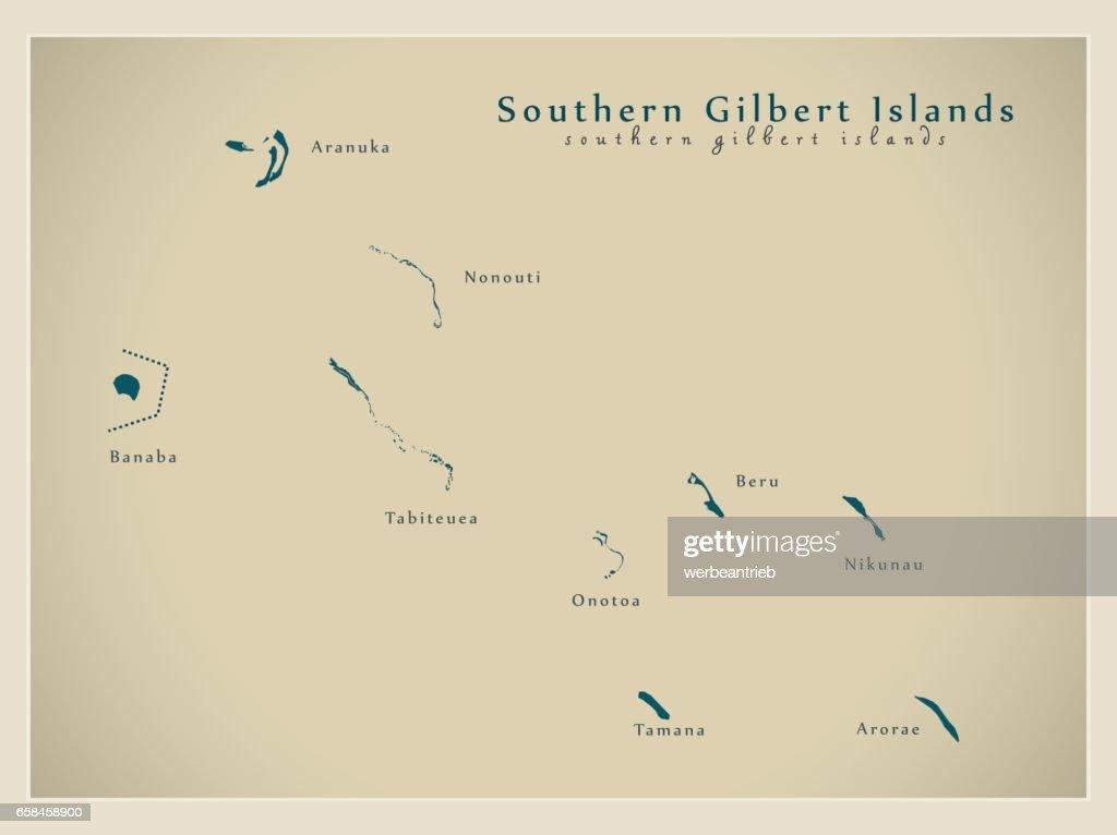 Modern Map - Southern Gilbert Islands KI