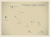 Modern Map - Southern Gilbert Islands KI