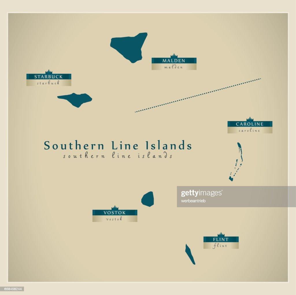 Modern Map - Southern Line Islands KI