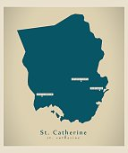 Modern Map - St. Catherine JM