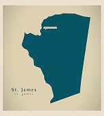 Modern Map - St. James JM