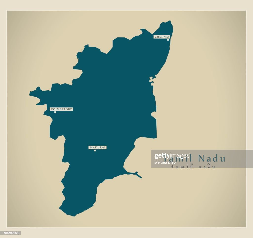 Modern Map - Tamil Nadu IN