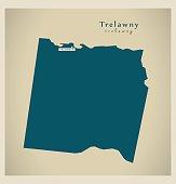 Modern Map - Trelawny JM