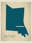 Modern Map - Umm Salal QA