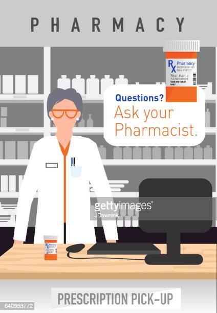 現代の成熟した女性薬剤師