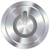 Modern metal power button