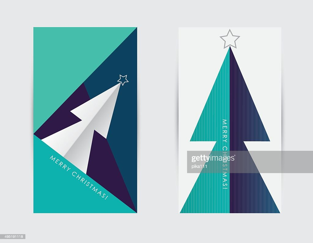 Modern minimal contemporary Merry Christmas greeting cards