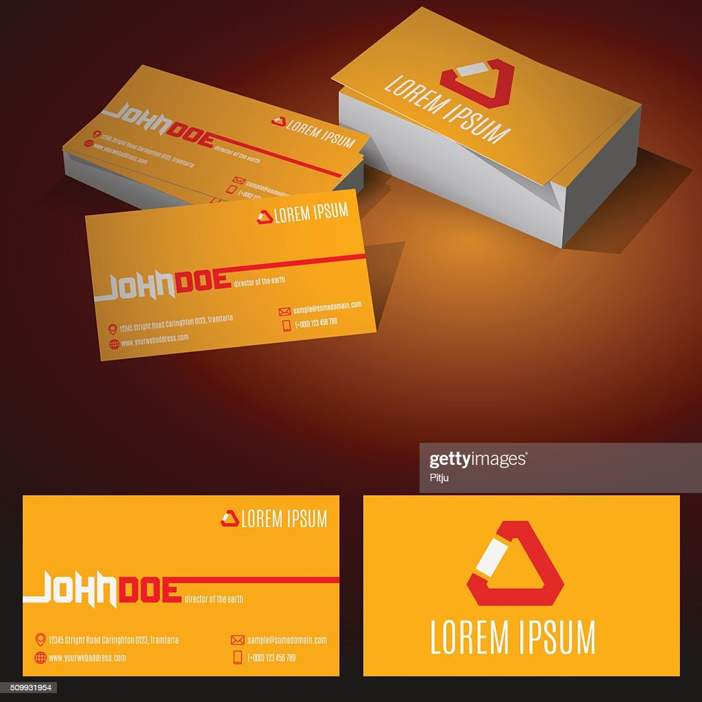 Modern Minimalist Standard Business Card Vector Art | Getty Images