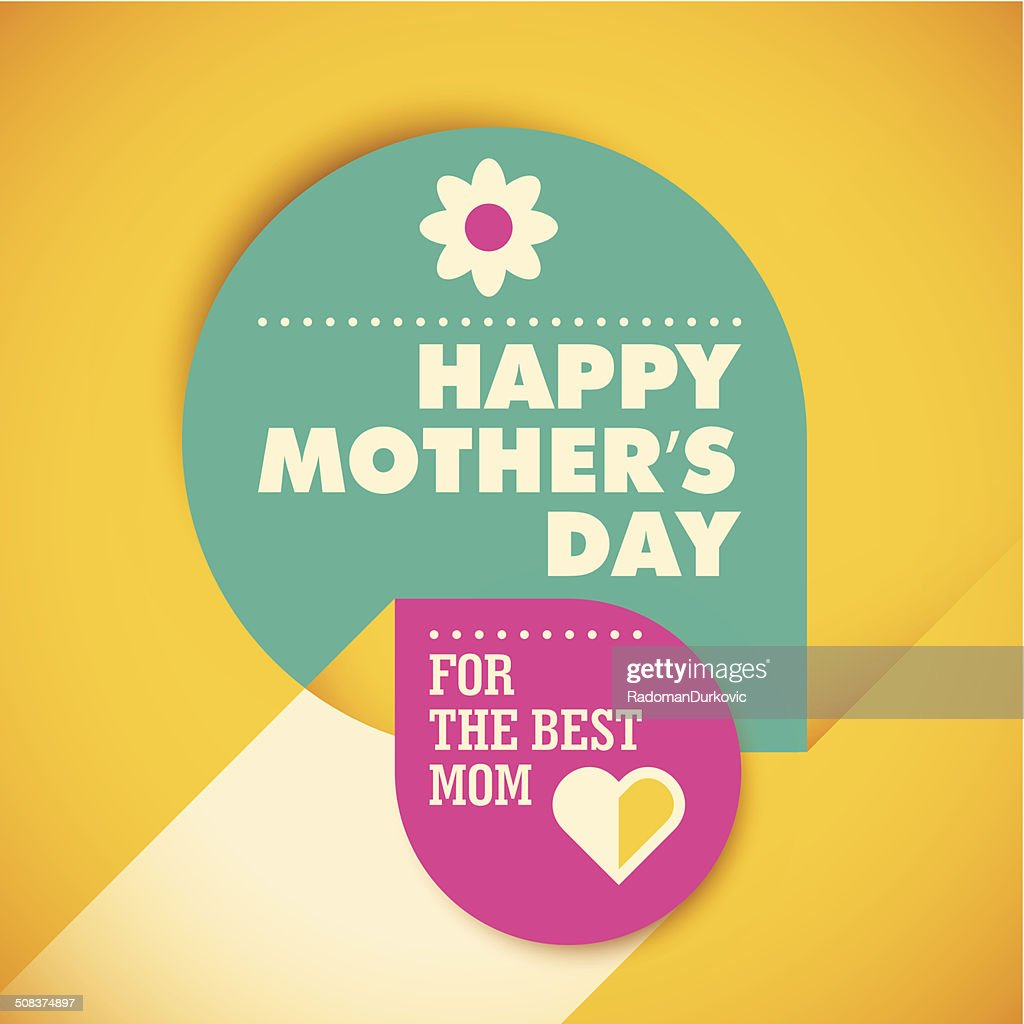 Modern mother's day card design.