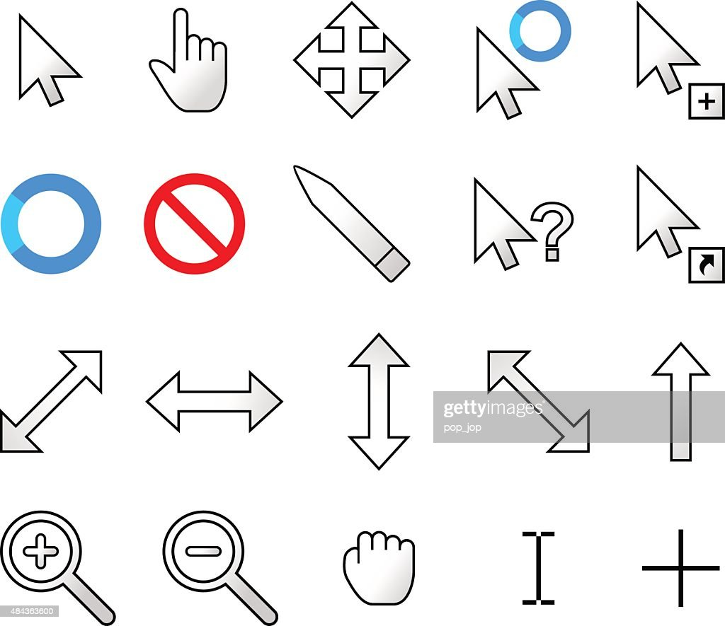 Modern Mouse Cursor Pointers - Vector Icons