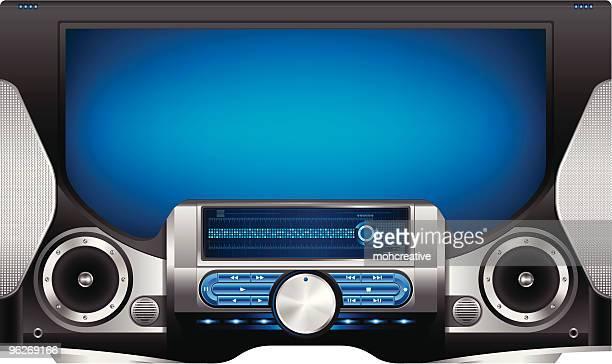 modern multimedia player - computer speaker stock illustrations, clip art, cartoons, & icons