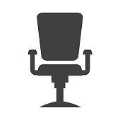 Modern office chair silhouette. Flat design vector.