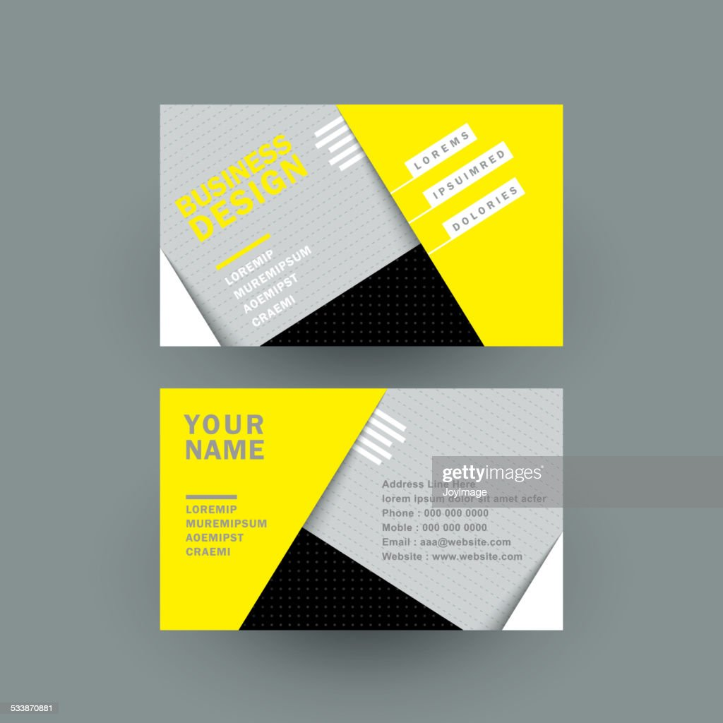 Modern Paper Texture Business Card Vector Art | Getty Images