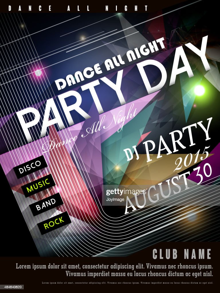 modern party poster design