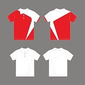 Modern polo shirt design