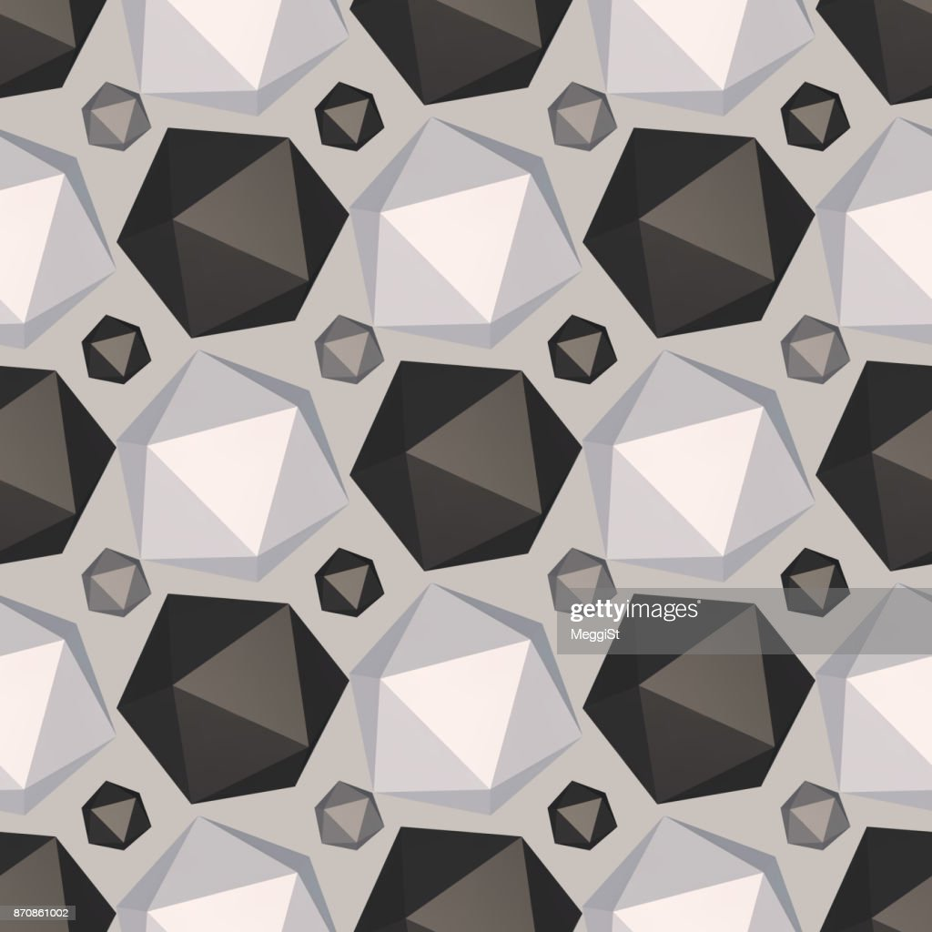 Modern polygon structure decoration.