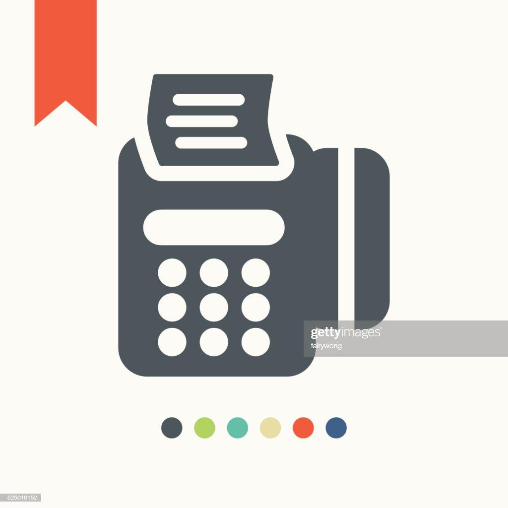 Modern POS payment terminal icon