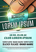 Modern poster for a acoustic concert or a rock festival