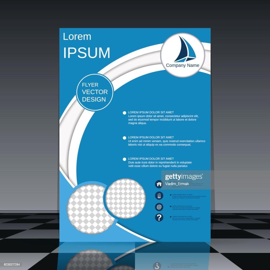 modern professional business flyer vector template vector art
