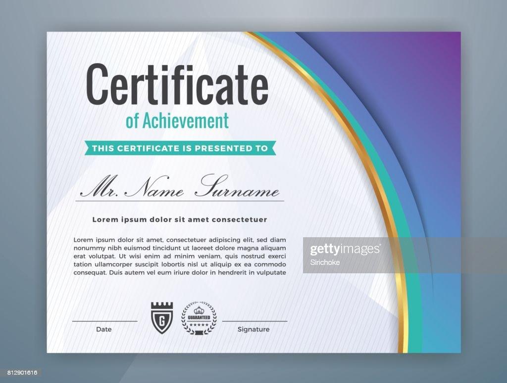 Moderne Professionelle Zertifikatvorlage Vektorgrafik | Getty Images