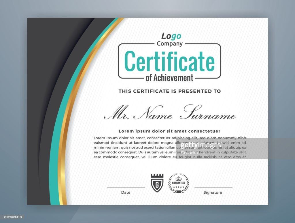 Modern Professional Certificate Template Vector Art | Getty Images