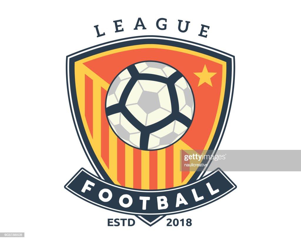 Modern Professional Soccer Badge Illustration