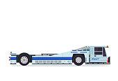 Modern Pushback Truck Airport Ground Support Vehicle Equipment Illustration