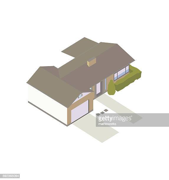 Modern ranch house illustration