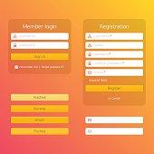 Modern registration and login form.