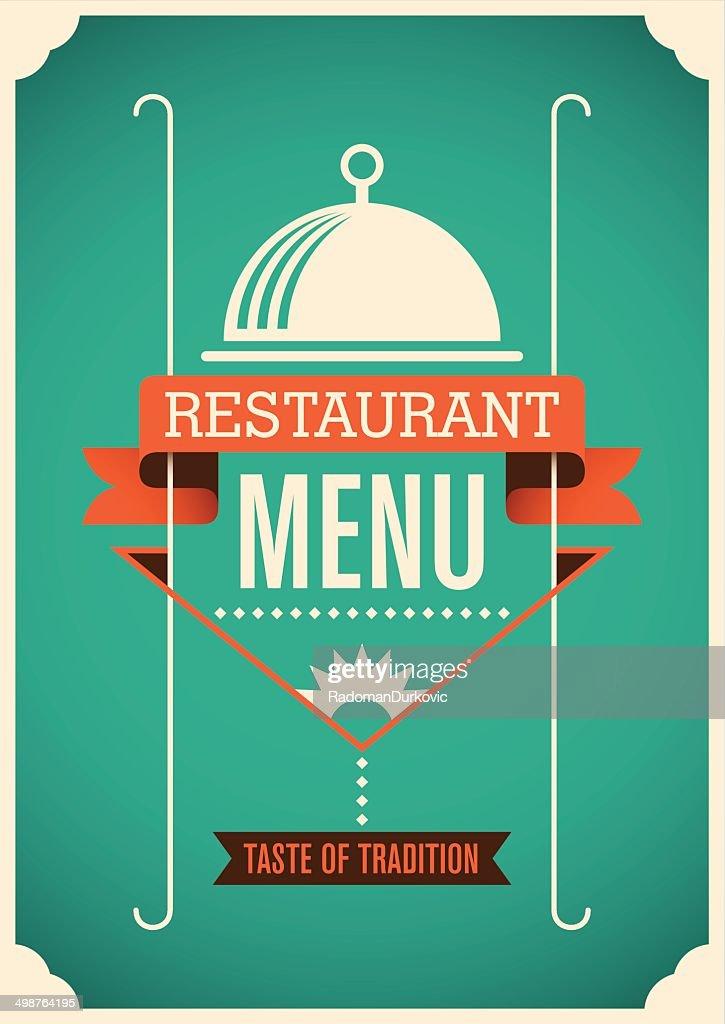 Modern restaurant menu design.