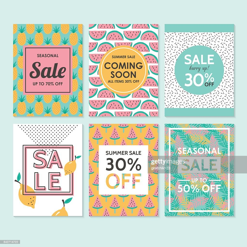 Modern sale banners template for social media and mobile apps