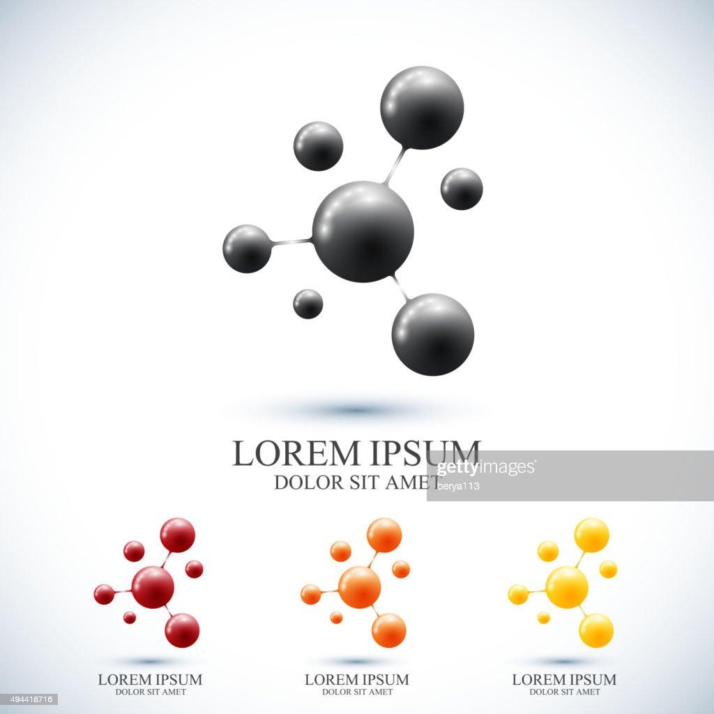 Modern set icon dna and molecule. Vector template for medicine
