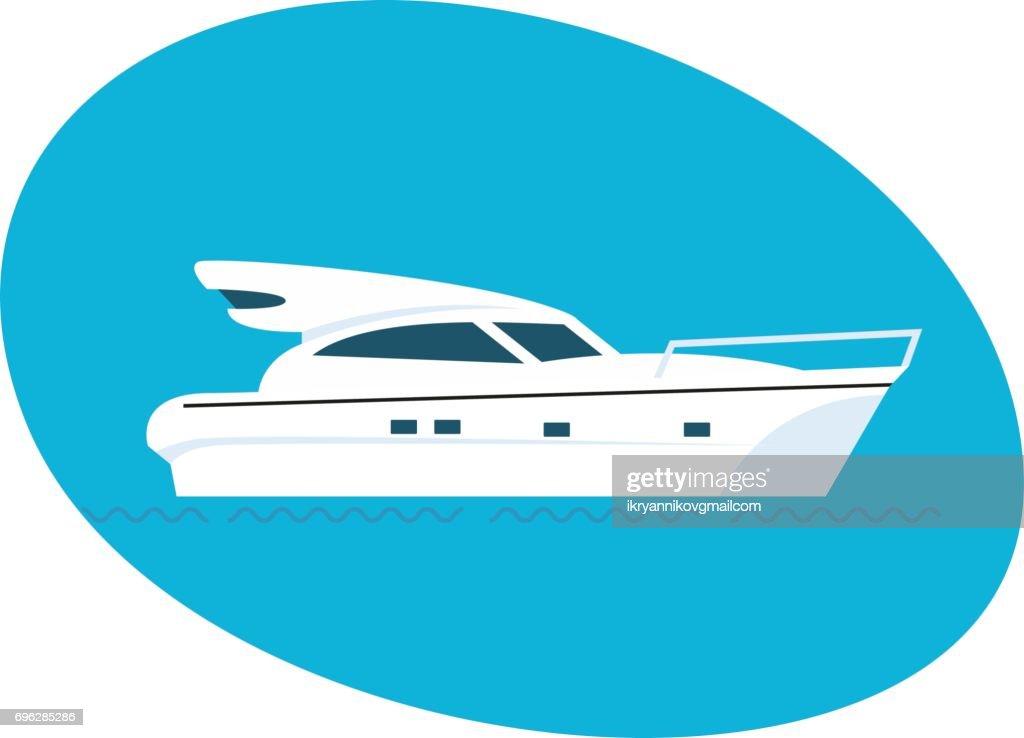 Modern side of the passenger boat