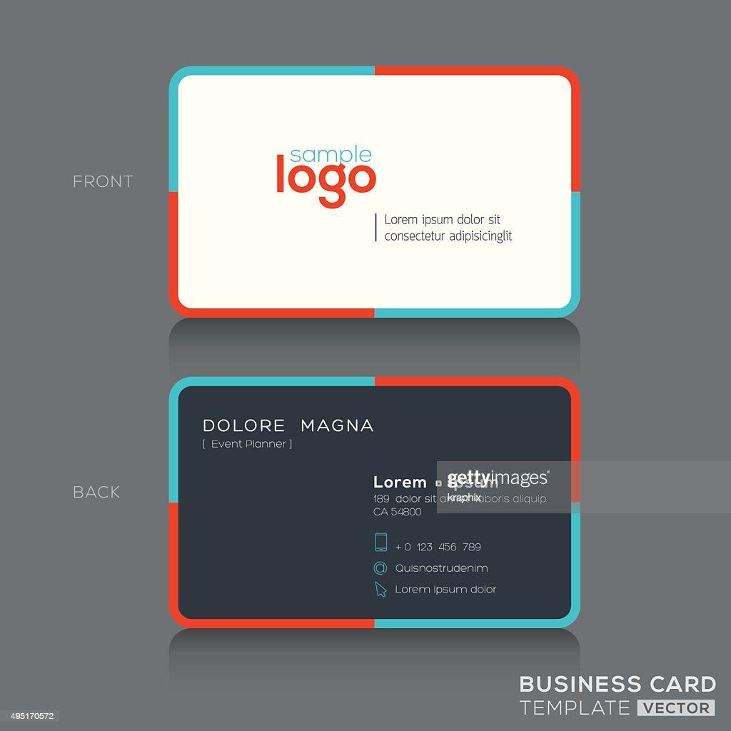 Modern simple business card design vector art getty images modern simple business card design vector art colourmoves