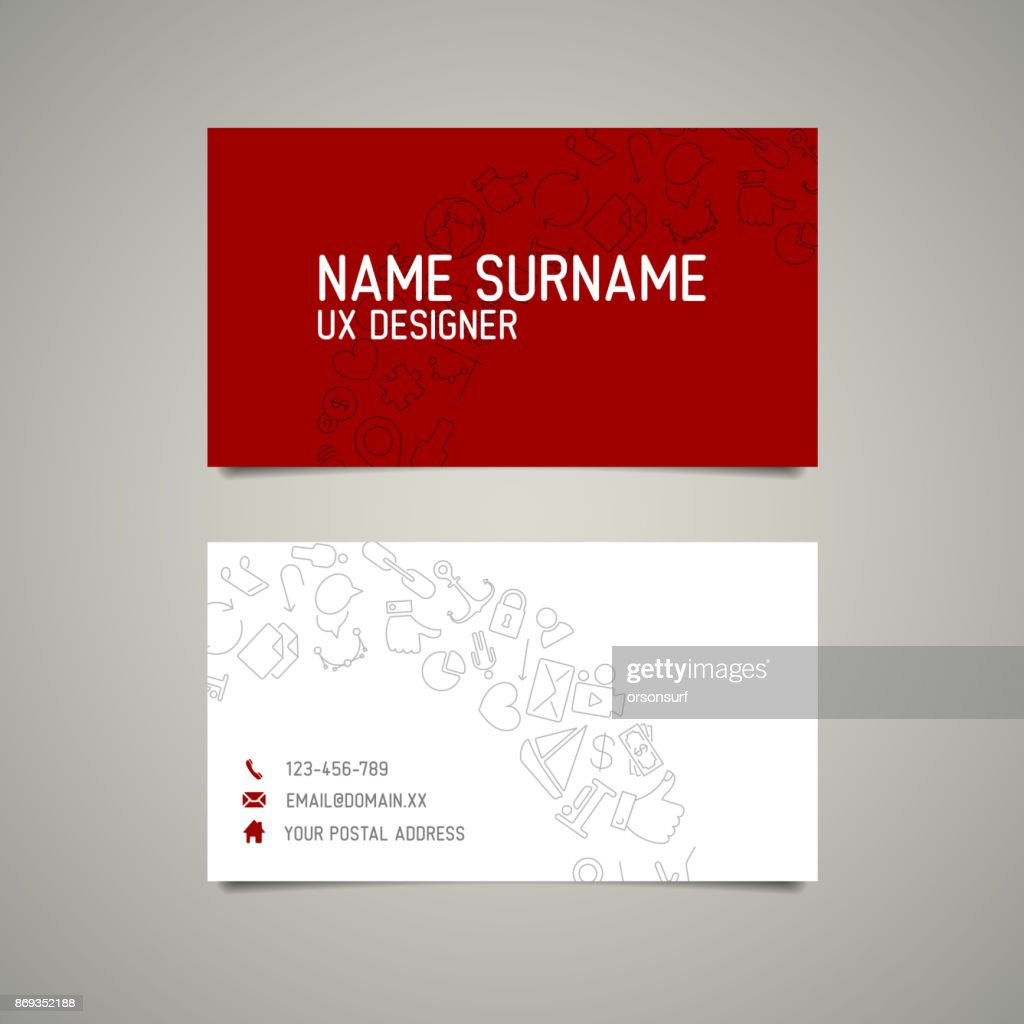 Modern simple business card template for ux designer