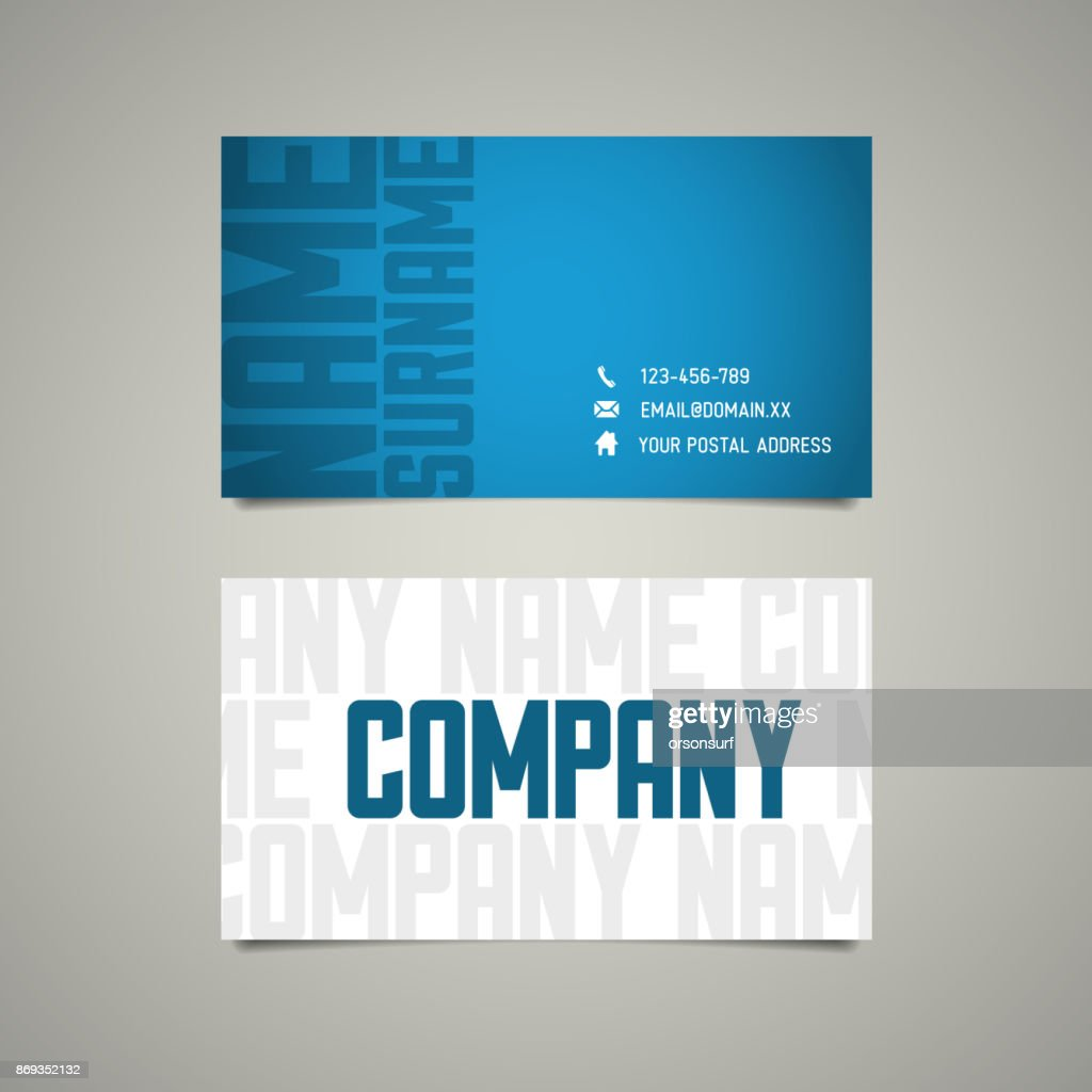 Modern simple business card template with big letters vector art modern simple business card template with big letters vector art colourmoves